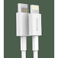 Cáp sạc SENDEM M26 Type-C to Lightning hỗ trợ sạc nhanh PD 18W 3A cho điện thoại iPhone 11, iPhone 11 Pro, iPhone 11 Pro Max dây TPE cao cấp dài 1M - Sạc và truyền dữ liệu - Hàng chính hãng
