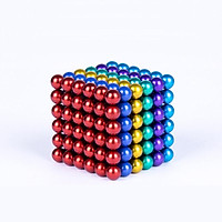 Khối 216 nam châm bi xếp hình sáng tạo (size 3mm sắc màu )