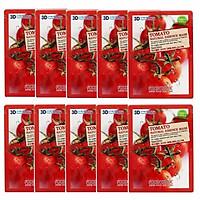 Bộ 10 Gói Mặt Nạ Cung Cấp Độ Ẩm Cho Da 3D Foodaholic Tomato Natural Essence Mask 23ml x10