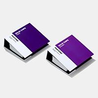 Bộ 2 cuốn bảng màu Pantone C U Solid Chip Book GP1606A Coated Uncoated - Phiên bản 2020 - 2,161 màu C U đầu 1-7 - 1 màu có 6 miếng kích thước 2cm x 3cm - nhập khẩu từ PANTONE LLC USA - Pantone Graphics