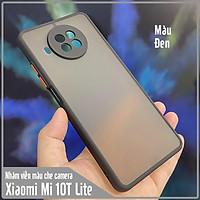 Ốp lưng cho Xiaomi Mi 10T Lite - Redmi Note 9 Pro 5G nhám viền màu che camera