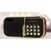 loa di động FM có đèn pin , khe cắm thẻ nhớ đài fm phát sóng đèn pin siêu sáng