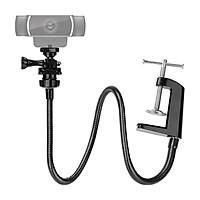 Adjustable Webcam Stand Camera Phone Holder Gooseneck Desk Mount 38cm Tube