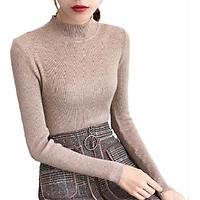 Áo len tăm NỮ cổ 5 phân dài tay cao cấp hàng VNXK