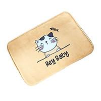 Thảm Lau Chân Chống Trượt Thấm Hút Hình Mèo Ngộ Nghĩnh 40x60cm