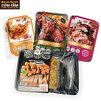 Combo thịt heo quay, đùi gà nướng ngũ vị, đùi gà nướng sốt và xá xíu kiểu HongKong (Combo4)