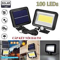 Đèn năng lượng mặt trời solar light mini giá rẻ có điều khiển dùng trong nhà và sân vườn, cảm biến chuyển động SL-F120