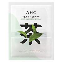 Mặt Nạ Trà Xanh Làm Dịu Da AHC Tea Therapy Soothing Green Tea Mask 1 Miếng
