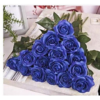 CYNDIE 20pc 7cm Real Latex Touch Rose Flowers Flower Wedding Home Design Bouquet Decors Best Price Gift Royal Blue