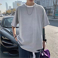 3 Color【M-5XL】Fashion Personality Breathable Hole Short Sleeve T-shirt Men Student Short T-shirt Unisex T-shirt Summer New Style Oversize