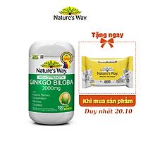 Viên Uống Tuần Hoàn Não Nature's Way High Strength Ginkgo Biloba Tăng Cường Trí Nhớ 2000mg 120 Viên