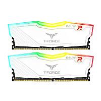 Ram TEAMGROUP T-Force Delta RGB Series 16GB (2 x 8GB) - 3000MHz LED 16,8 triệu màu, tản nhiệt nhôm Trắng - Hàng Chính Hãng