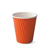 Ly giấy nóng có lớp kraft chống nóng đỏ Detpak 360ml- 30 ly/gói