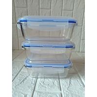 bộ 3 hộp đựng thực phẩm bằng thủy tinh 1000ml