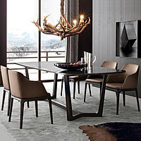 Bộ bàn ăn Concord ghế Grace có tay gỗ cao su