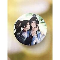 Gương tròn 2 mặt Ma Đạo Tổ Sư nhiều mẫu tặng kèm móc khoá