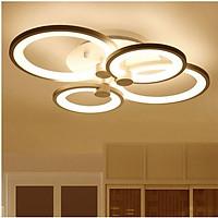 Đèn trần LED mâm 3 màu ánh sáng 4 cánh có điểu khiển từ xa