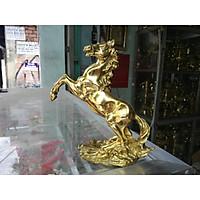Ngựa Hí bằng đồng cao 19cm
