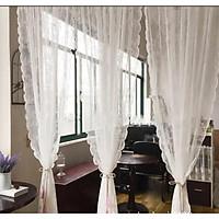 Rèm, mành cửa sổ thêu họa tiết 3D trang trí độc đáo, rèm ngăn phòng khách, spa, nhà hàng,trang trí cửa sổ sang trọng (tặng 2 móc dán tường trong suốt)