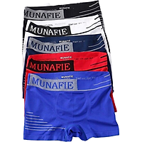 Combo 5 Quần Sịp Đùi Nam Munafie Dệt Kim Mẫu Mới, Quần Boxer Nam (Freesize từ 45-80kg) - D06