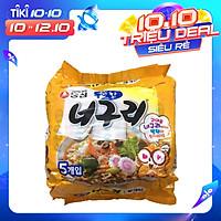 Bịch 5 Gói Mì Gấu Trúc Neoguri Nongshim Cay Nhẹ 120 Gram x 5