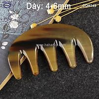 Lược sừng răng thưa thần thánh - COH143 (Size: S - 9cm) Massage đầu giúp lưu thông máu đả thông kinh mạch
