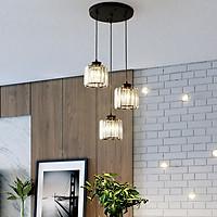 Đèn thả UGOT pha lê trang trí nội thất - kèm bóng LED và đế ốp trần