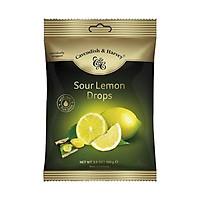 Kẹo trái cây Đức vị CHANH TƯƠI MỚI - SOUR LEMON Cavendish & Harvey dạng gói 100g