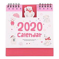 Lịch Để Bàn 2020 (15 x 16cm) - Hình Gấu
