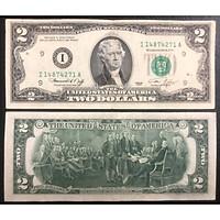 Tiền cổ Mỹ 2 dollars 1976, tờ 2 dollars may mắn nhất thế giới
