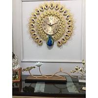 Đồng hồ treo tường công vàng may mắn ĐH918 - kích thước 70*70cm- máy kim trôi yên tĩnh