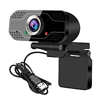 USB Webcam Video Conference Camera 1080P Full HD Live Streaming Web Cam with Built-in Microphone Computer Camera for