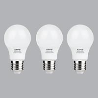 Bộ 3 Bóng Đèn LED Bulb MPE 5W 6000-6500K E27 Ø55 - Ánh sáng trắng