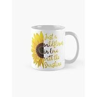 Cốc sứ uống trà cà phê in hình hoa hướng dương cực đẹp - Cốc quà tặng