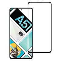 Kính Cường Lực Full Viền Màn Hình Cho Samsung A51 - Màu Đen - Hàng Chính Hãng