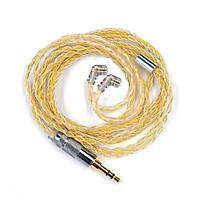 Dây 8 lõi nâng cấp mạ vàng và bạc dành cho KZ ZSN ZSN PRO ZS10 PRO AS12 AS16 ZSX - Hàng chính hãng