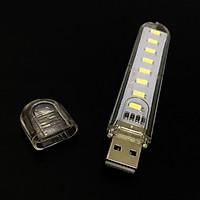 Đèn 8 led siêu sáng cắm USB vỏ nhựa