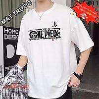 Áo Thun Tay Lỡ Luffy Màu Trắng Áo thun unisex đẹp form rộng oversize   One Piece Tshirt