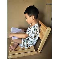 Ghế ngồi bệt kiểu nhật, ghế thư giãn, ghế đọc sách, ghế tựa lưng đa năng gỗ cao su MẶT NGỒI NAN