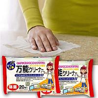 Bộ 2 gói giấy ướt chống khuẩn vệ sinh bếp, lò vi sóng (20 tờ) - Hàng Nội Địa Nhật