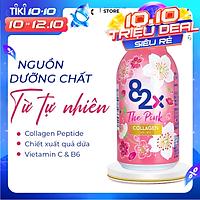 Nước Uống Đẹp Da - 82X THE PINK COLLAGEN, Chứa 1000mg Collagen Peptide, Vitamin C và 82 Thực Vật Lên Men (100ml/ Chai) Sản Xuất Tại Nhật Bản