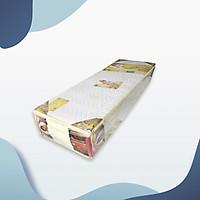 Nệm cao su Ansanko 1m2 gấp 3 (1.2mx2.0m) vải gấm Damask cao cấp có chần - Hoa văn màu sắc ngẫu nhiên.