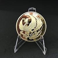 Đồng xu khắc hình chim Phượng Hoàng mạ vàng mang lại may mắn, thịnh vượng - TMT Collection - SP000843