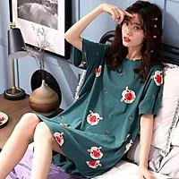 Váy Ngủ Quyến Rũ Bộ đồ mặc nhà nữ chất liệu thun, phong cách Hàn Quốc, phù hợp cho mùa hè