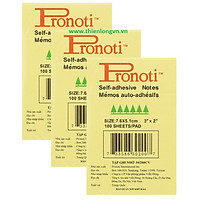Combo 3 tập Giấy nhớ Pronoti 3x2