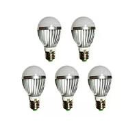 Đèn LED búp nhôm tiết kiệm điện TQ 5W bộ 5 cái (sáng trắng)