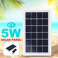 5W 6V Solar Panel With 3M DC Cabel Polysilicon Solar Power Panel Energy Saving