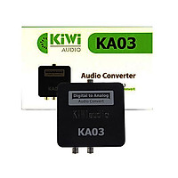 Bộ chuyển âm thanh TV 4K quang optical sang audio AV ra amply + Cáp optical Kiwi KA03 - Hàng chính hãng
