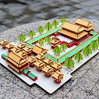 Đồ chơi lắp ghép gỗ 3D Mô hình Đền thờ Khổng Tử Confucian Temple HF09 Laser