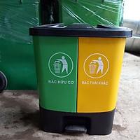 Thùng rác 40 lít 2 ngăn